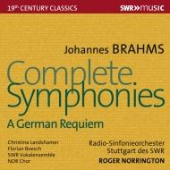 交響曲全集、ドイツ・レクィエム ロジャー・ノリントン&シュトゥットガルト放送交響楽団(4CD)