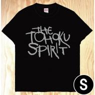 東北魂Tシャツ 黒×英語 S