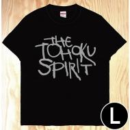 東北魂Tシャツ 黒×英語 L