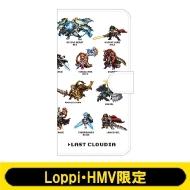 手帳型スマホケース(B:ドット絵 White)【Loppi・HMV限定】