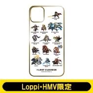 iPhoneケース11(B:ドット絵 White)【Loppi・HMV限定】