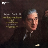 交響曲第5番、リュッケルト歌曲集 ジョン・バルビローリ、ジャネット・ベイカー、ニュー・フィルハーモニア管弦楽団 (2枚組/180グラム重量盤レコード/Warner Classics)