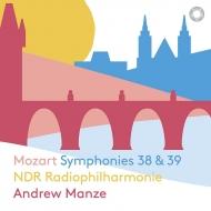 交響曲第39番、第38番『プラハ』 アンドルー・マンゼ&北ドイツ放送フィル(日本語解説付)