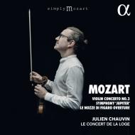 交響曲第41番『ジュピター』、ヴァイオリン協奏曲第3番、『フィガロの結婚』序曲 ジュリアン・ショヴァン&ル・コンセール・ド・ラ・ローグ(日本語解説付)