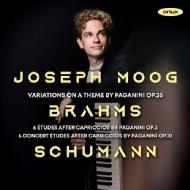 ブラームス:パガニーニの主題による変奏曲、シューマン:パガニーニの奇想曲による6つの練習曲、6つの演奏会用練習曲 ヨゼフ・モーク