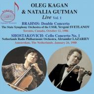 Brahms Double Concerto, Shostakovich Cello Concerto No.1 : Oleg Kagan(Vn)Natalia Gutman(Vc)Svetlanov, Lazarev