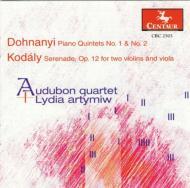 Piano Quintet, 1, 2, : Artymlw(P)Audubon Q +kodaly: Serenade