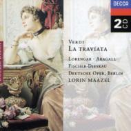 歌劇『椿姫』全曲 ローレンガー、アラガル、F=ディースカウ、マゼール&ベルリン・ドイツ・オペラ  (2CD)