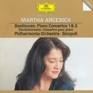 ピアノ協奏曲第1、2番 アルゲリッチ(P)、シノーポリ&フィルハーモニア管弦楽団