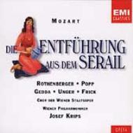 『後宮からの逃走』全曲 クリップス&ウィーン・フィル、ローテンベルガー、ゲッダ、他(1966 ステレオ)(2CD)