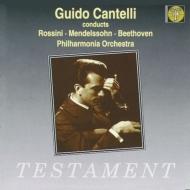 メンデスゾーン:交響曲第4番『イタリア』、ベートーヴェン:交響曲第5番『運命』(第2〜4楽章) グイド・カンテッリ&フィルハーモニア管弦楽団