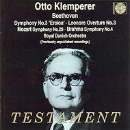 ベートーヴェン:交響曲第3番『英雄』、ブラームス:交響曲第4番、他 オットー・クレンペラー&デンマーク王立歌劇場管弦楽団(2CD)