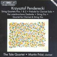 String Quartet.1, 2, Trio, Clarinet Quartet: Tale Q Frost(Cl)