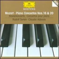 ピアノ協奏曲第16、20番 ゼルキン(P) アバド&ヨーロッパ室内管弦楽団、ロンドン交響楽団