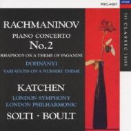 Piano Concerto.2, Paganini Rhapsody: Katchen, Solti, Boult +dohnanyi