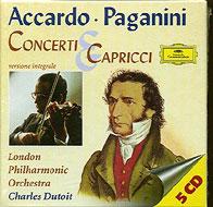 ヴァイオリン協奏曲全集、カプリース アッカルド(vn)、デュトワ&LSO,LPO(5CD)