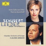 シューベルト:管弦楽伴奏による歌曲集 アバド/ヨーロッパ室内管弦楽団