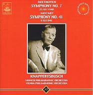 ベートーヴェン:交響曲第7番、モーツァルト:同第41番《ジュピター》 クナッパーツブッシュ / ミュンヘン・フィル(1948)、ウィーン・フィル(1941)