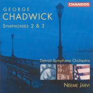チャドウィック:交響曲第2番、3番 ヤルヴィ/デトロイト交響楽団