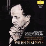 ピアノ協奏曲第1番、ヘンデルの主題による変奏曲とフーガ ヴィルヘルム・ケンプ、フランツ・コンヴィチュニー&シュターツカペレ・ドレスデン