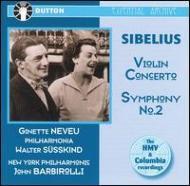 Violin Concerto, Sym.2: Neveu, Susskind / Po, Barbirolli / Nyp