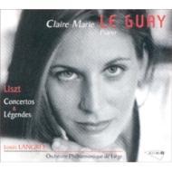 ピアノ協奏曲第1番、ピアノ協奏曲第2番、2つの伝説 ル・ゲ、ラングレー&リエージュ・フィル