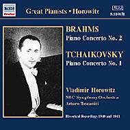 ブラームス:ピアノ協奏曲第2番/チャイコフスキー:同第1番 ホロヴィッツ/トスカニーニ/NBC交響楽団/ミラー