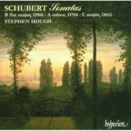 シューベルト:ピアノ・ソナタ第14番、第21番、第10番(未完) S・ハフ(p)