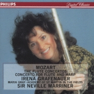 Flute Concertos.1, 2, Concerto For Fl & Hp: Grafenauer, Graf, Marriner / Asmf