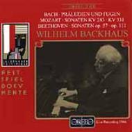 ザルツブルク・リサイタル1966(バッハ、モーツァルト、ベートーヴェン) バックハウス