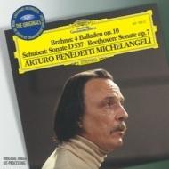 ベートーヴェン:ピアノ・ソナタ第4番、シューベルト:ピアノ・ソナタ第4番、ブラームス:バラードop.10 ミケランジェリ(p)