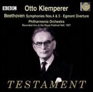 交響曲第4番、第5番『運命』、『エグモント』序曲 オットー・クレンペラー&フィルハーモニア管弦楽団(1957年ライヴ)