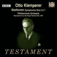 交響曲第2番、第7番 オットー・クレンペラー&フィルハーモニア管弦楽団(1957年ライヴ)