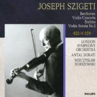 ベートーヴェン:ヴァイオリン協奏曲、ブラームス:ヴァイオリン・ソナタ第2番 ヨゼフ・シゲティ