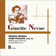 シベリウス:ヴァイオリン協奏曲、ブラームス:ヴァイオリン協奏曲、他 ヌヴー