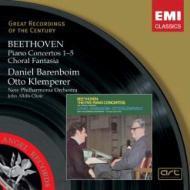 ピアノ協奏曲全集、合唱幻想曲 バレンボイム(p)クレンペラー&ニュー・フィルハーモニア管弦楽団(3CD)