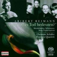 ライマン編曲によるメンデルスゾーンとシューマンの歌曲、シューマン弦楽四重奏曲第3番 シェーファー、ペーターゼン四重奏団
