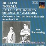 Norma: Votto / Teatro Alla Scala Callas Del Monaco Simionato