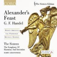 『アレクサンダーの饗宴』、ハープ協奏曲、オルガン協奏曲 クリストファーズ&シックスティーン、シンフォニー・オブ・ハーモニー・アンド・インヴェンション(2CD)