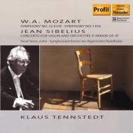 交響曲第1番、第32番、シベリウス:ヴァイオリン協奏曲 テンシュテット&バイエルン放送響(1977)