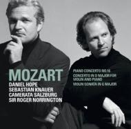 Concerto For Violin & Piano, Piano Concerto.16: D.hope Knauer Norrington /