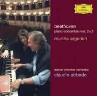 ピアノ協奏曲第2番、第3番 マルタ・アルゲリッチ、クラウディオ・アバド&マーラー室内管弦楽団