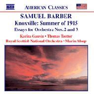 ノックスヴィル、1915年の夏/管弦楽のためのエッセー第2番/第3番/他 オールソップ/ロイヤル・スコティッシュ管/ゴーヴィン/トロッター