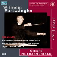 交響曲第1番、二重協奏曲、ハイドン変奏曲 フルトヴェングラー&ウィーン・フィル(1952)