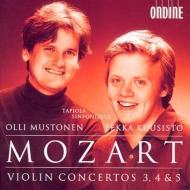 ヴァイオリン協奏曲第3番、第4番、第5番『トルコ風』 ペッカ・クーシスト、オッリ・ムストネン&タピオラ・シンフォニエッタ