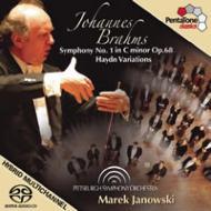 交響曲第1番、ハイドンの主題による変奏曲 ヤノフスキ&ピッツバーグ交響楽団