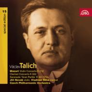 『グラン・パルティータ』、クラリネット協奏曲、他 ターリヒ&チェコ・フィル、ルジーハ(クラリネット)、他