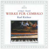 バッハ:イタリア協奏曲、半音階的幻想曲とフーガ、ヘンデル:調子の良い鍛冶屋、他 リヒター(チェンバロ)