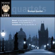 モーツァルト:弦楽四重奏曲第21番、ショスタコーヴィチ:弦楽四重奏曲第8番、他 シュカンパ四重奏団