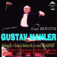 交響曲第4番&第6番『悲劇的』 ベルティーニ&ベルリン・ドイツ響(2CD)